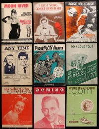 1s145 LOT OF 9 SHEET MUSIC 1930s-1960s great songs from a variety of different movies!
