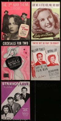 1s139 LOT OF 5 SHEET MUSIC 1930s-1940s great songs from a variety of different movies!