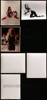 1s965 LOT OF 3 BARBARELLA PHOTOS 1968 great sexy portraits of Jane Fonda in costume!