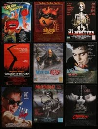 1s069 LOT OF 166 HORROR/SCI-FI TRADE ADS 1984 - 1993 great images from a variety of movies!