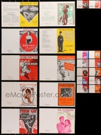 1s078 LOT OF 22 GREETING CARDS 1970s all with movie sheet music cover images!