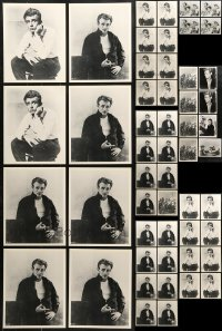 1s978 LOT OF 52 JAMES DEAN 8X10 REPRO PHOTOS 1980s portraits of the Hollywood legend!