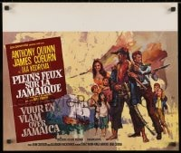 1t441 HIGH WIND IN JAMAICA Belgian 1965 cool art of pirates Anthony Quinn & James Coburn!
