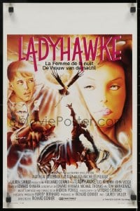 1t450 LADYHAWKE Belgian 1985 cool Formosa art of Michelle Pfeiffer & young Matthew Broderick!