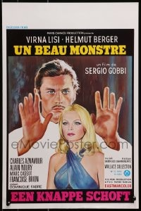 1t456 LOVE ME STRANGELY Belgian 1971 great artwork of sexy Virna Lisi & Helmut Berger!
