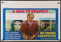 1t459 MAN TO RESPECT Belgian 1974 Kirk Douglas possesses The Master Touch, great different art!