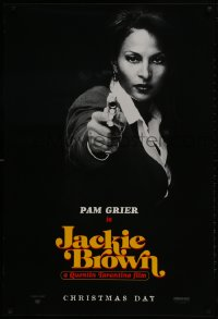 1w773 JACKIE BROWN teaser 1sh 1997 Quentin Tarantino, cool image of Pam Grier in title role!