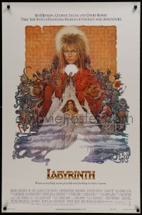 1w789 LABYRINTH 1sh 1986 Jim Henson, art of David Bowie & Jennifer Connelly by Ted CoConis!