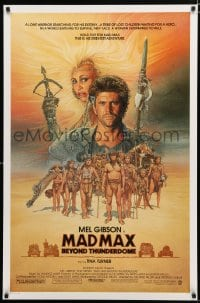 1w802 MAD MAX BEYOND THUNDERDOME 1sh 1985 art of Mel Gibson & Tina Turner by Richard Amsel!