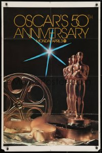 1y012 50TH ANNUAL ACADEMY AWARDS 1sh 1978 ABC, great image of Oscar statue!