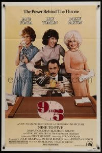 1y008 9 TO 5 1sh 1980 Dolly Parton, Jane Fonda & Lily Tomlin w/tied up Dabney Coleman!
