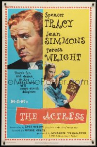 1y017 ACTRESS 1sh 1953 George Cukor, Jean Simmons, Spencer Tracy!