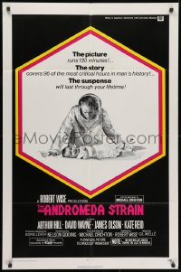 1y043 ANDROMEDA STRAIN int'l 1sh 1971 Michael Crichton novel, Robert Wise directed, Arthur Hill