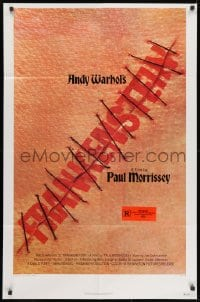 1y045 ANDY WARHOL'S FRANKENSTEIN 2D 1sh 1974 Paul Morrissey, great image of title in stitches!