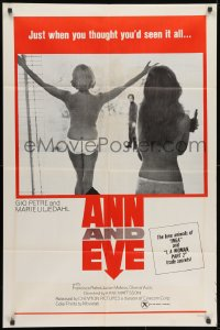 1y047 ANN & EVE 1sh 1970 Gio Petre, Marie Liljedahl, you haven't seen it all, rare red box style!