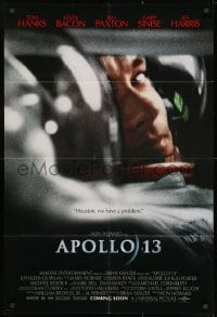 1y053 APOLLO 13 advance 1sh 1995 Ron Howard directed, image of Tom Hanks in trouble!