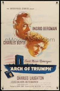 1y055 ARCH OF TRIUMPH 1sh 1947 Ingrid Bergman, Charles Boyer, Erich Maria Remarque novel!