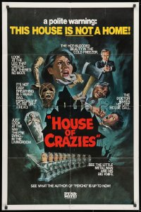 1y057 ASYLUM 1sh R1980 Peter Cushing, Britt Ekland, horror, House of Crazies!