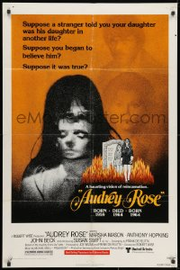 1y059 AUDREY ROSE 1sh 1977 Marsha Mason, Anthony Hopkins, a haunting vision of reincarnation!