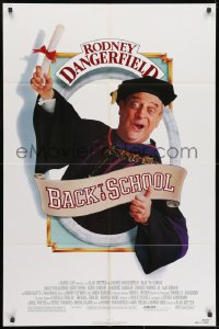 1y065 BACK TO SCHOOL 1sh 1986 Rodney Dangerfield goes to college with his son, great image!
