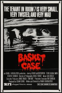 1y073 BASKET CASE 1sh R1984 he is very small, very twisted & VERY mad, Rugged Films re-release!