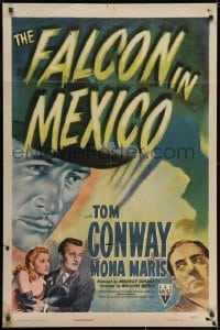 1y003 FALCON IN MEXICO . 1sh 1944 detective Tom Conway and pretty Mona Maris, cool film noir art!