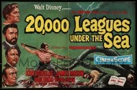 1z008 20,000 LEAGUES UNDER THE SEA 2pg English trade ad 1955 Jules Verne classic, different art!