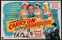 1z010 CARRY ON REGARDLESS 2pg English trade ad 1963 art of Sidney James & sexy half-naked nurses!