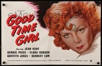 1z016 GOOD TIME GIRL 2pg English trade ad 1948 different art of sleazy bad girl Jean Kent!