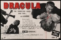 1z017 HORROR OF DRACULA 2pg English trade ad 1958 Hammer vampire Christopher Lee biting victim!