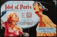 1z020 IDOL OF PARIS 2pg English trade ad 1948 art of Christine Norden & Beryl Baxter w/riding crops!