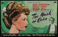 1z021 MARK OF CAIN 2pg English trade ad 1947 different art of Sally Gray & Eric Portman!