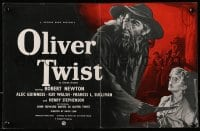 1z024 OLIVER TWIST 2pg English trade ad 1951 Pulford art of Alec Guinness as Fagin & Davies as Oliver!