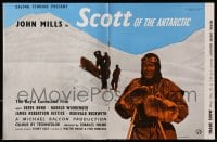 1z031 SCOTT OF THE ANTARCTIC 2pg English trade ad 1948 John Mills in South Pole expedition!