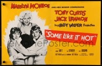 1z033 SOME LIKE IT HOT 2pg English trade ad 1959 sexy Marilyn Monroe with Tony Curtis & Jack Lemmon in drag!