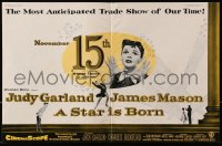 1z034 STAR IS BORN 2pg English trade ad 1954 Judy Garland, James Mason, George Cukor classic!