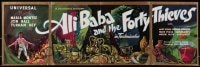 1z002 ALI BABA & THE FORTY THIEVES 8pg English trade ad 1943 Maria Montez, opens to 11x34 poster!