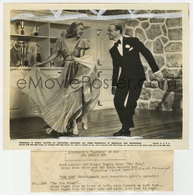 Emovieposter Com 2a125 Carefree 8x10 25 Still 1938 Great Image Of Fred Astaire Ginger Rogers Dancing The Yam