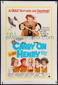 2h060 CARRY ON HENRY VIII linen 1sh 1972 English Sidney James is a great guy with his chopper!