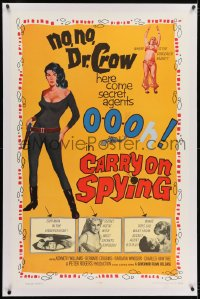2h061 CARRY ON SPYING linen 1sh 1964 sexy English spy spoof, the most secrets exposed!