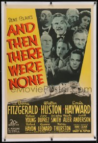 2h029 AND THEN THERE WERE NONE linen 1sh 1945 Walter Huston, Agatha Christie, directed by Rene Clair