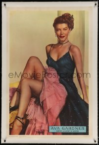 2h033 AVA GARDNER linen 1sh 1950 best full-length portrait of the sexy MGM leading lady, ultra rare!