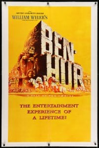 2h039 BEN-HUR linen teaser 1sh 1960 William Wyler classic epic, cool Joseph Smith art, ultra rare!