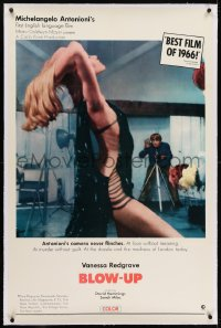 2h048 BLOW-UP linen int'l 1sh 1967 Michelangelo Antonioni, David Hemmings photographs sexy Verushka!