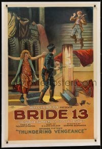 2h051 BRIDE 13 linen chapter 16 1sh 1920 ambush art, serial supreme, Thundering Vengeance, rare!