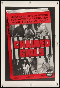 2h064 CHAINED GIRLS linen 1sh 1965 unnatural love of women for women, daring film about lesbianism!