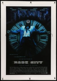 2h079 DARK CITY linen 1sh 1997 Rufus Sewell, Kiefer Sutherland, Jennifer Connelly, William Hurt!