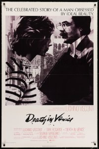 2h084 DEATH IN VENICE linen 1sh 1971 Luchino Visconti's Morte a Venezia, Dirk Bogarde, Andresen