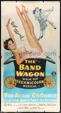 2j052 BAND WAGON linen 3sh 1953 great art of sexy Cyd Charisse showing her legs + with Fred Astaire!