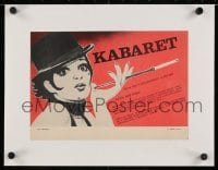 2j299 CABARET linen Czech 8x12 1989 great different art of Liza Minnelli with cigarette in holder!